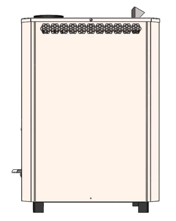 Піч кам'янка з нержавіки ЕКО М 20 для бані